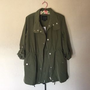 Sanctuary Scout Green Anorak - NWT Large